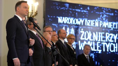 """Prezydent Duda: Żołnierze Wyklęci stanowią wielką część naszego mitu narodowego. """"Znajomość pol"""