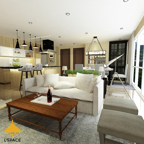 Family room , kitchen and dining