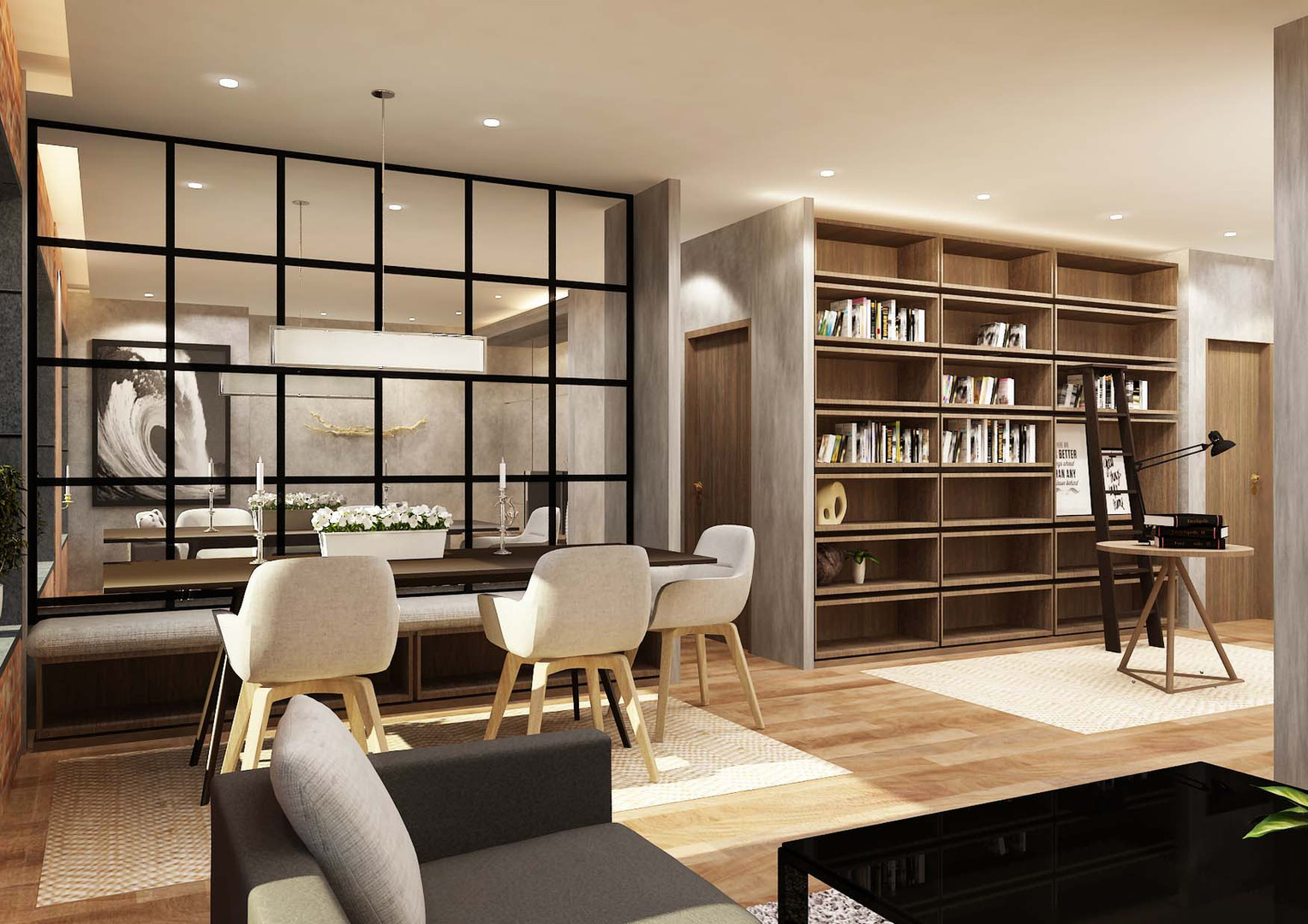 Dining and Library