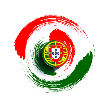 —Pngtree—portugal flag with radial circl