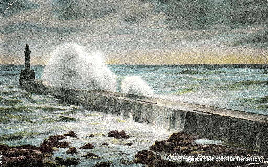 Breakwater at Harbour (1906)