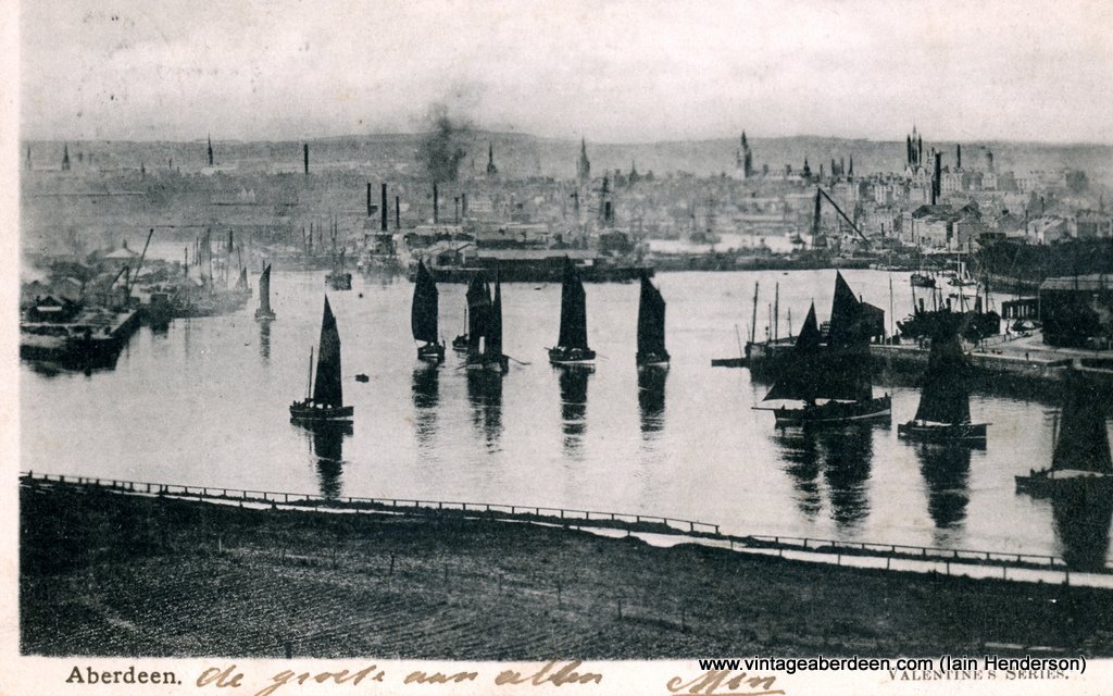Aberdeen Harbour with fishing boats