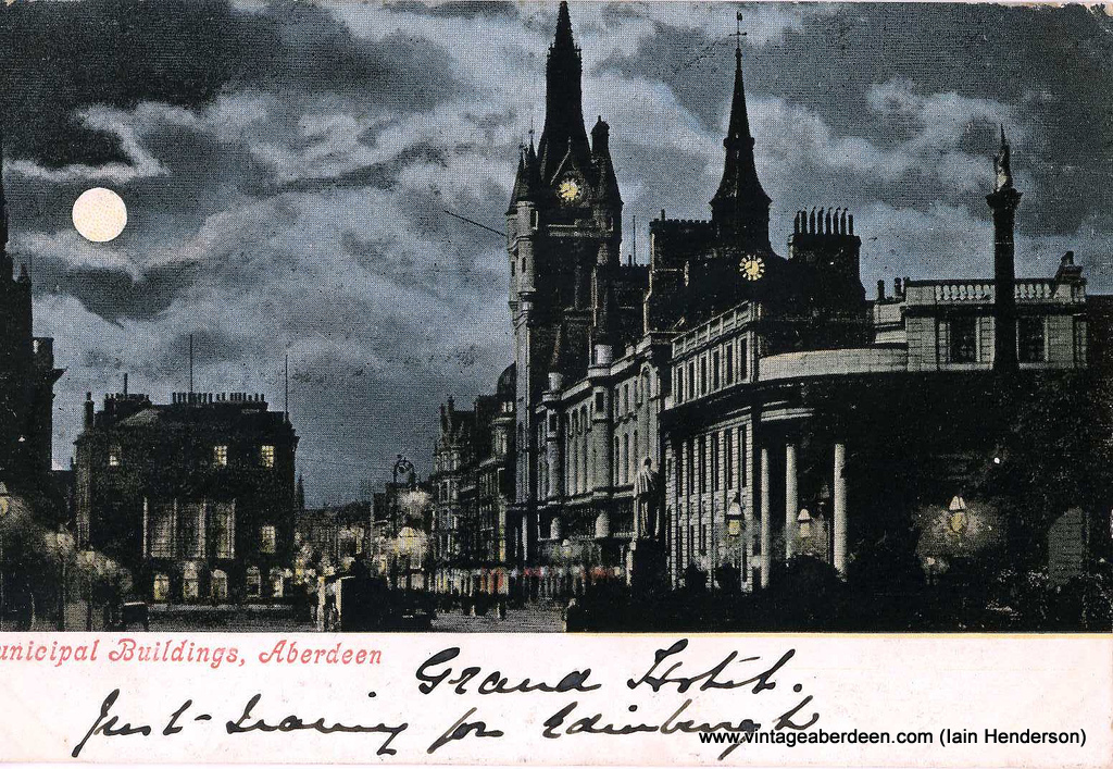 Municipal Buildings (Town House), Aberdeen from Castlegate