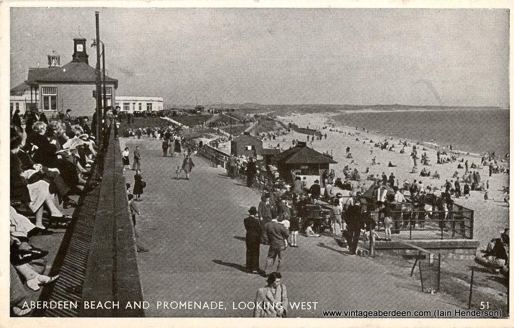 Aberdeen Beach and promenade (1954)