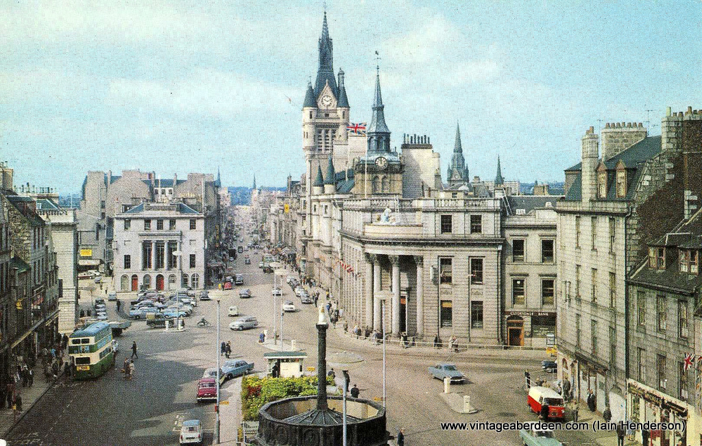 Castlegate looking towards Union Street, Aberdeen