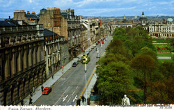 Union Terrace, Aberdeen showing Caledonian (Thistle) Hotel on le