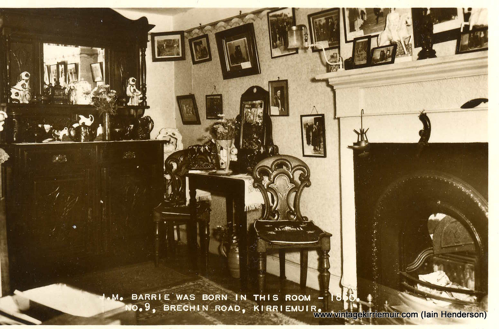 Room where JM Barrie was born