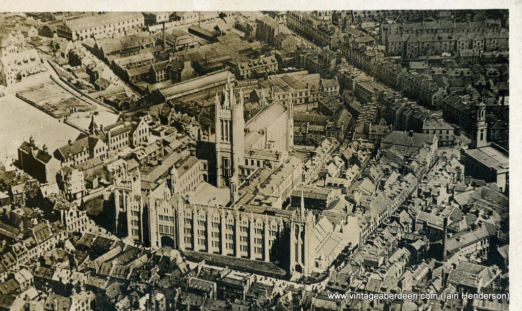 Marischal College photographed from an Aeroplane