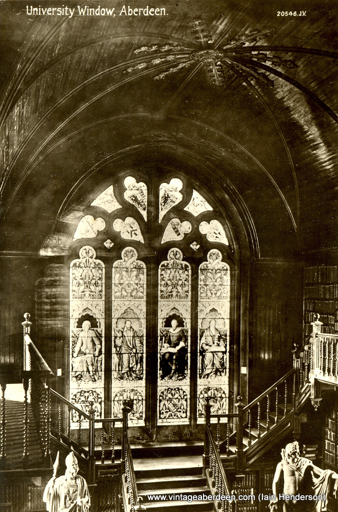 Window in King's College Library
