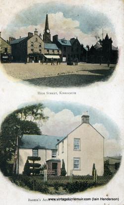 High Street and Barrie's Auld Licht Manse, Kirriemuir (1909)