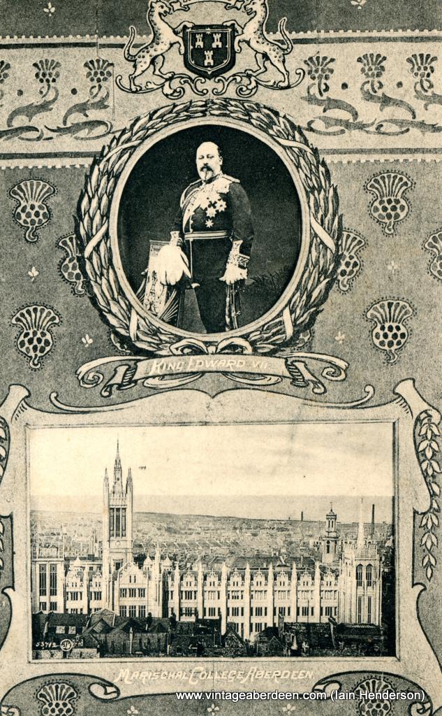 Marischal College and King Edward VII, Aberdeen