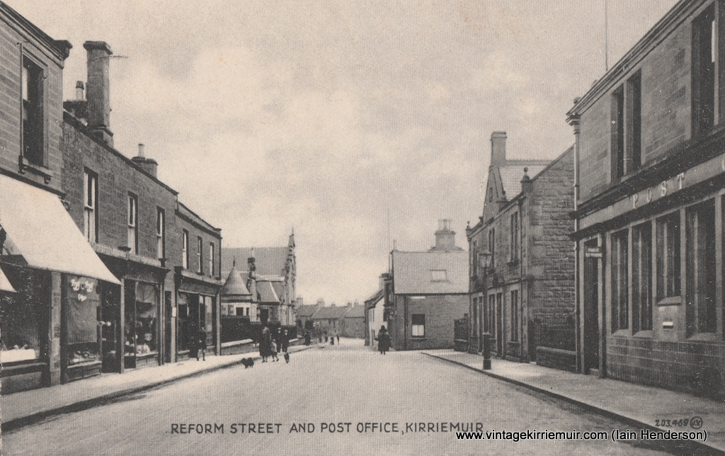 Reform Street and Post Office, Kirriemuir (1928)