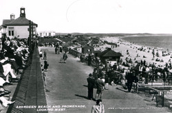 Aberdeen beach and promenade looking west