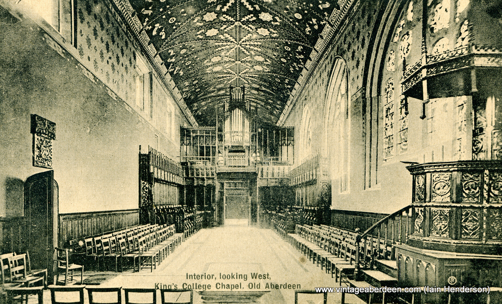 Interior, looking West, King's College Chapel, Old Aberdeen (Uni