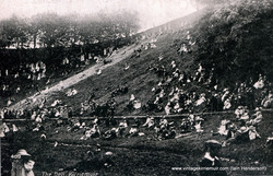 The Den with crowds on slopes