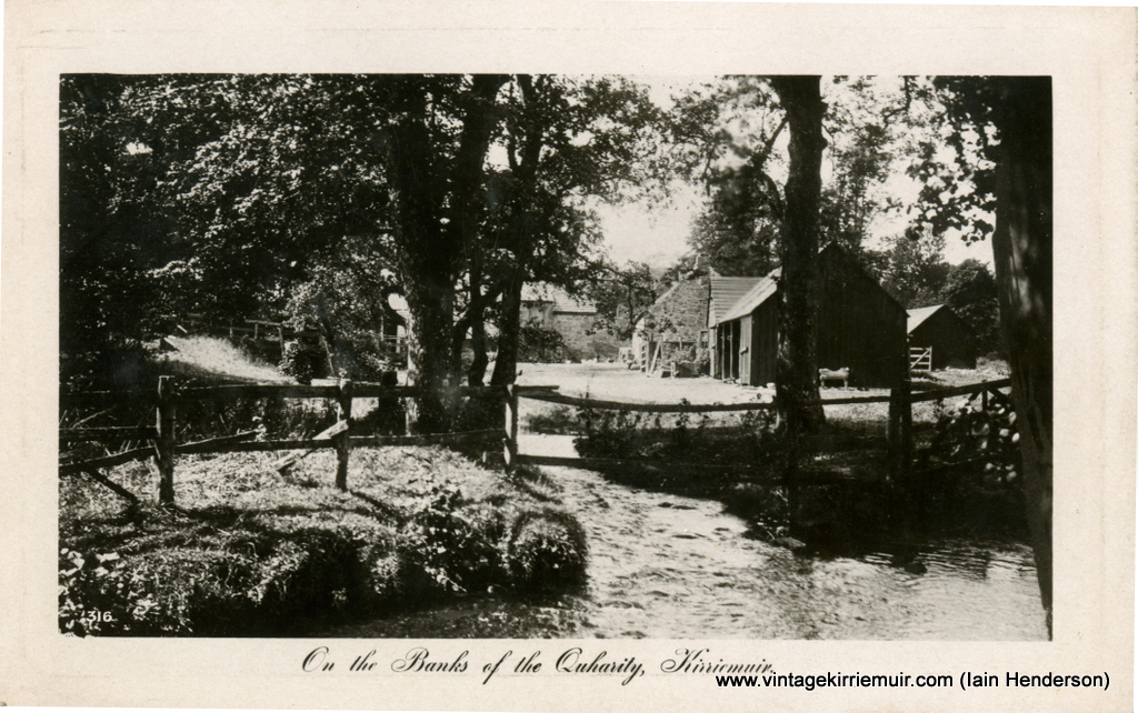 On the banks of the Quharity, Kirriemuir (1914)