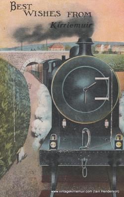 Kirriemuir Novelty Railway Postcard