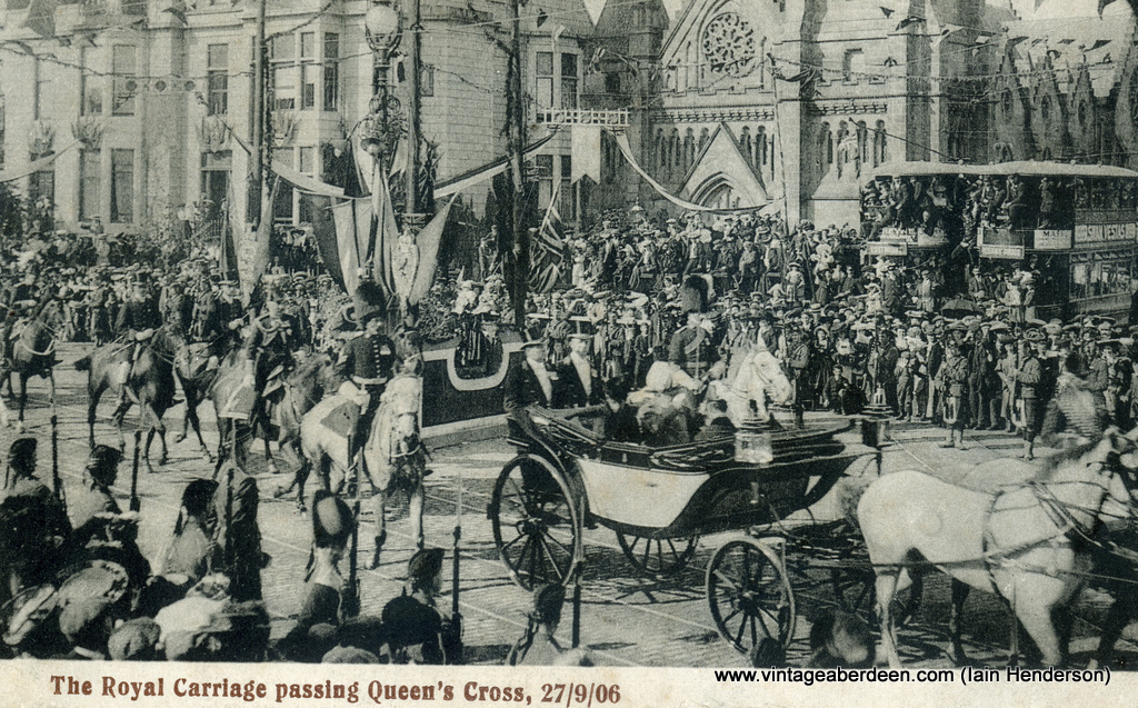 The Royal Carriage passing Queen's Cross