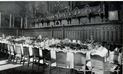 Table Set for King's Luncheon in Town Hall, Aberdeen