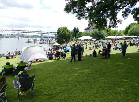 Springtime in Portland, dragon boats and farmers markets, the joys of wandering
