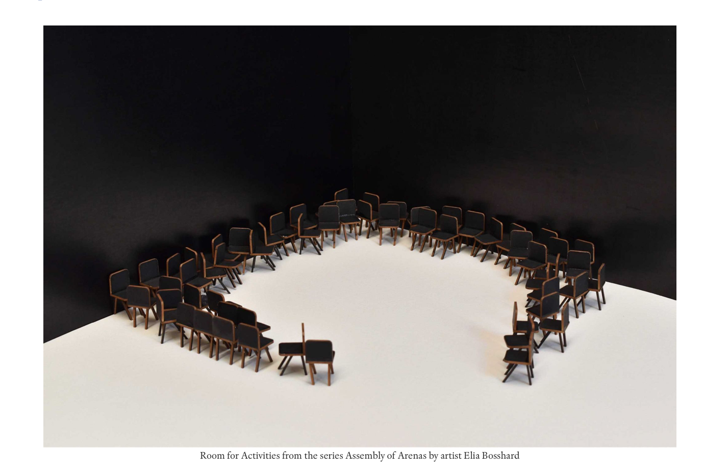 Assembly Of Arenas (2020) Elia Bosshard