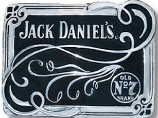 JACK DANIEL'S STRAIGHT SCROLL BUG LOGO BELT BUCKLE (5064JD)