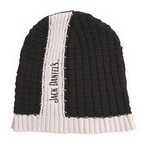 Beanie-Skull Cap-Stocking Cap-Black with White Stripe