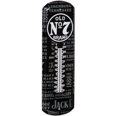 Jack Daniel's Bottle Label Repeat Thermometer