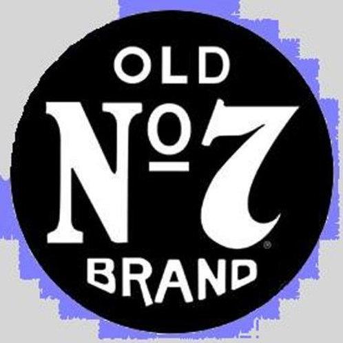 "Jack Daniel's Round ""Old No.7"" Bar Sign"