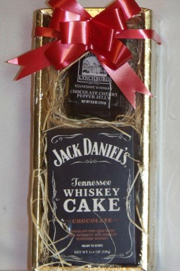 WHISKEY CAKE AND CHOCOLATE CHERRY JELLY GIFT BOX