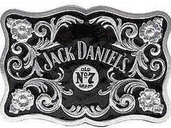 JACK DANIEL'S BUG LOGO FLOWER SCROLL BELT BUCKLE