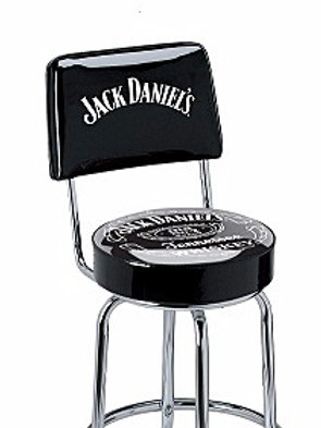 Jack Daniel's Bar Stool w/ Back Rest