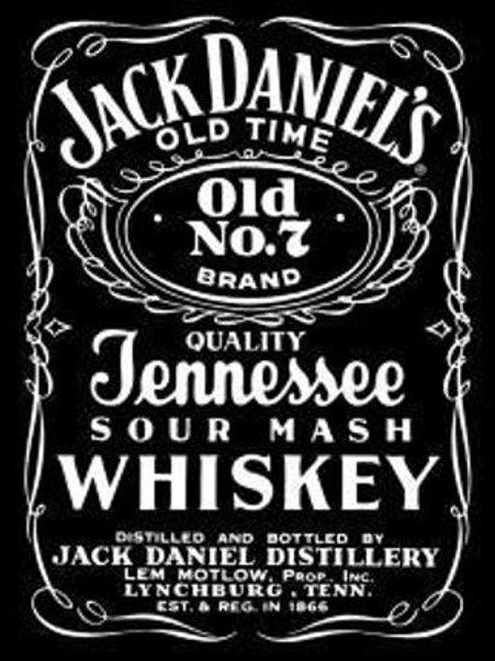 Jack Daniel's Bottle Label Bar Sign
