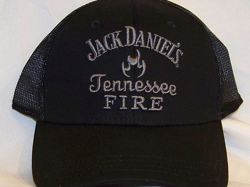 TN Fire Whiskey Black Mesh Fitted Hat