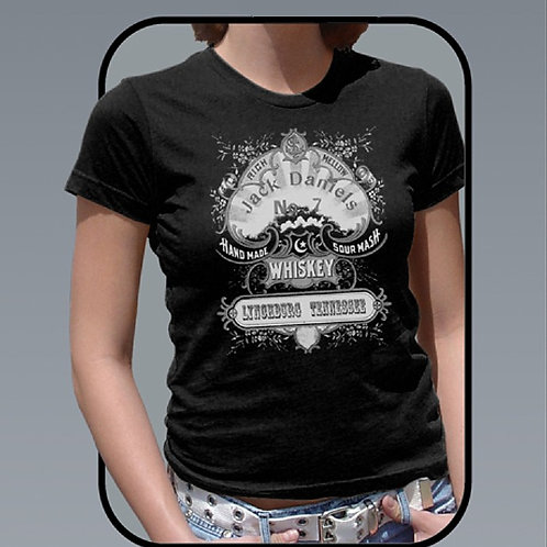 Women's Black Old Time Whiskey Tee