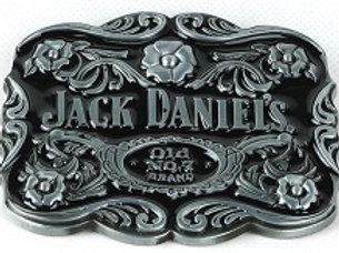 JACK DANIEL'S CARTOUCHE SCROLL BELT BUCKLE