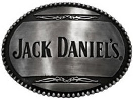 JACK DANIEL'S STRAIGHT SIGNATURE OVAL BELT BUCKLE (5032JD)