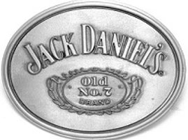 JACK DANIEL'S SMOOTH CARTOUCHE BELT BUCKLE (5042JD)