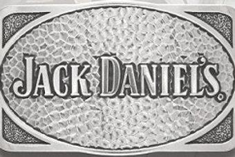 JACK DANIEL'S RECTANGLE-OVAL HAMMERED BELT BUCKLE (5048JD)
