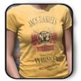 "Women's Yellow ""Old Time Whiskey"" Tee Shirt"