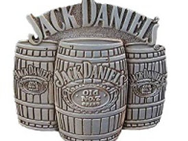 JACK DANIEL'S 3 BARRELS BELT BUCKLE