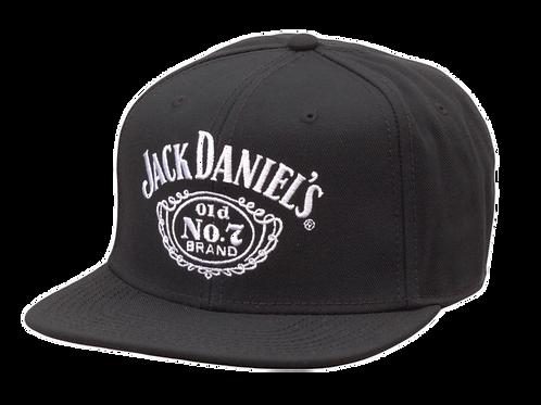Flat Bill Black Hat