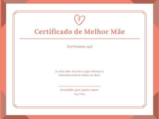 CERTIFICADO DE MELHOR MÃE