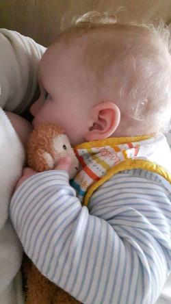 Bedtime breastfeeding