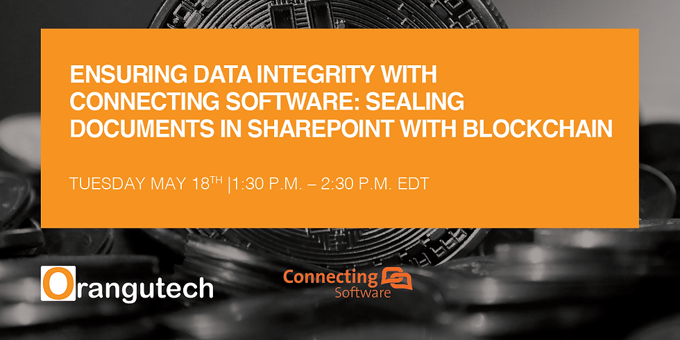 Ensuring Data Integrity with Connecting Software: Sealing Documents in SharePoint with BlockChain