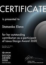 Lexus Design Awards 2020_Statsenko-Elena