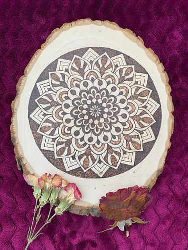 Intricate mandala design plaque