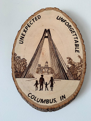 A Family from Columbus, Indiana Plaque