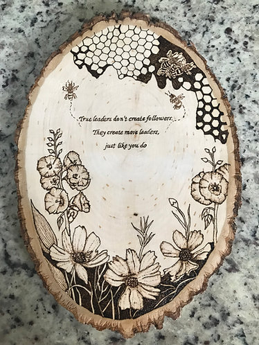 Inspirational Plaque with Flowers