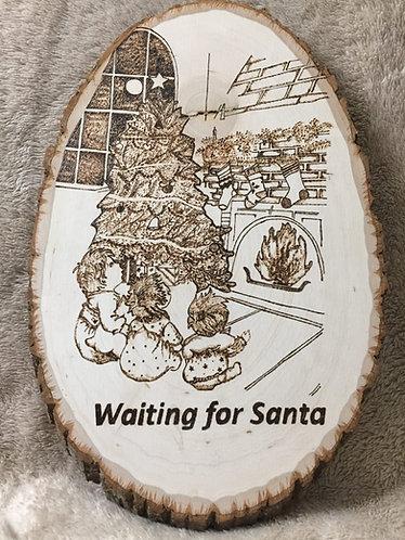 Waiting for Santa Plaque